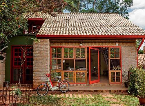 casas pintadas nas esquadrias