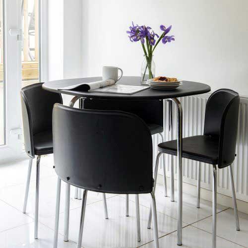 mesa para sala de jantar compacta