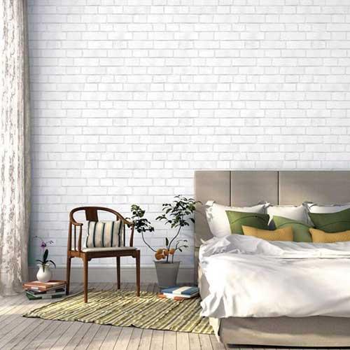 papel de parede texturizado branco
