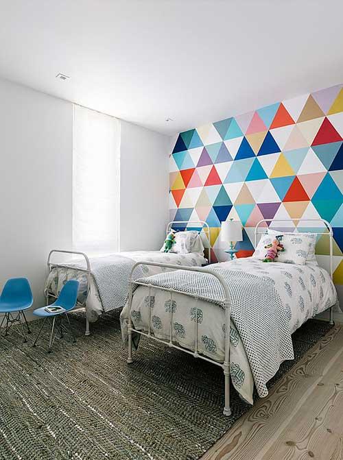 papel de parede colorido pra quarto infantil