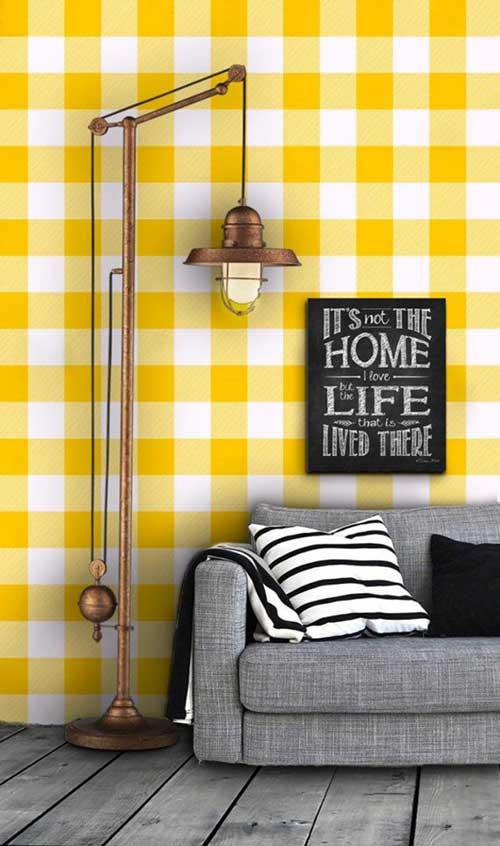 imagem do tumblr de papel de parede amarelo e branco