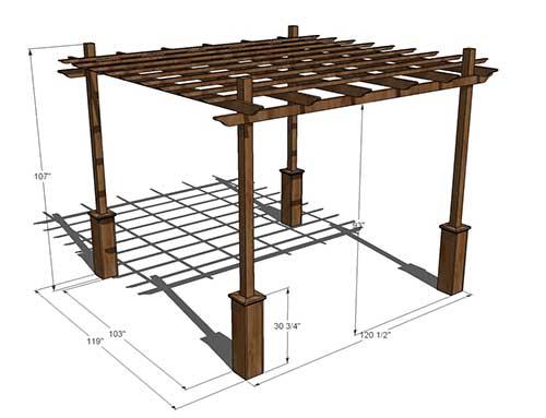projeto para construir pergolado de madeira