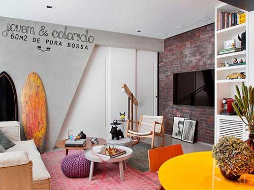 como decorar um apartamento de 60 metros para jovens