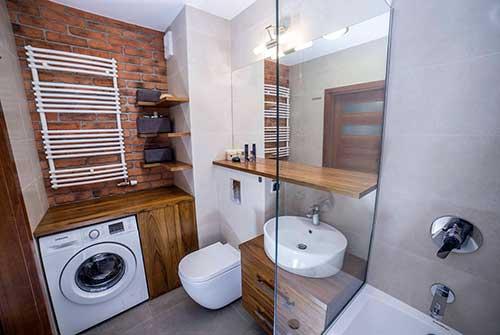 apartamento pequeno com area de serviço no banheiro