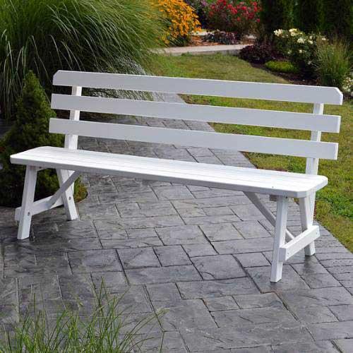 banco para jardim branco em madeira plastica