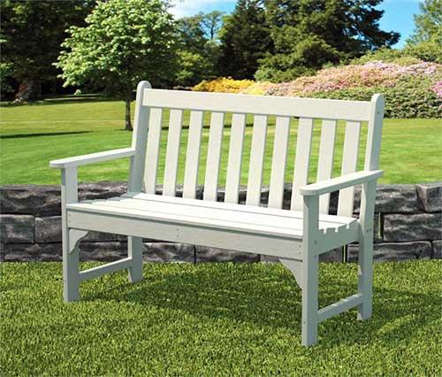 banco para jardim branco de madeira