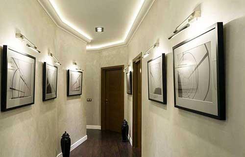 como decorar o corredor das salas de um escritorio