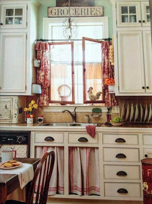 decoracao com cortina para cozinha boemia