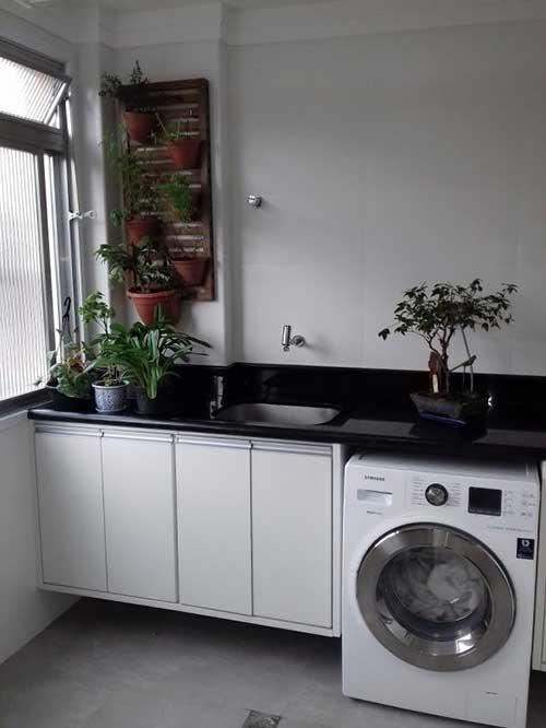 area de serviço interna em apartamento bem pequeno