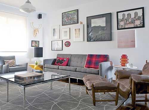 imagem de sala de estar decorada por mauricio arruda