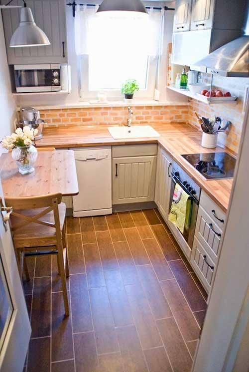 foto de cozinha em l em apartamento muito pequeno