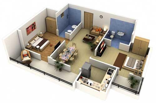 imagem de projeto arquitetonico de apartamento pequeno