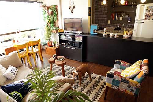 foto de apartamento decorado pequeno que usa plantas no espaço