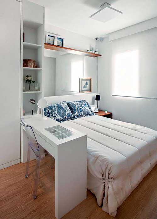 quarto decorado em apartamento pequeno