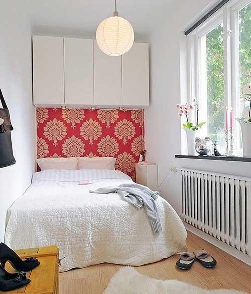 quarto feminino em apartamento pequeno decorado
