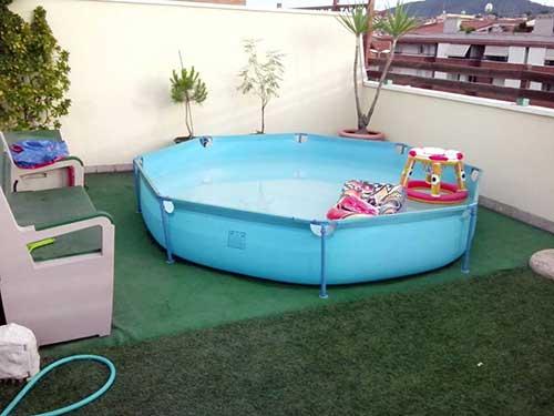 piscina de plastico para jardins pequenos