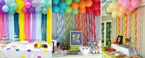ideias para decorar aniversario com crepom