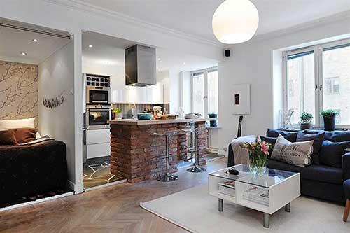 foto de apartamento quarto, sala e cozinha