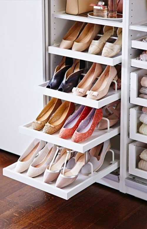 ideias para organizar e decorar loja de calçados pequena