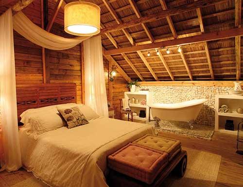 foto de quarto decorado com iluminaçao amarela