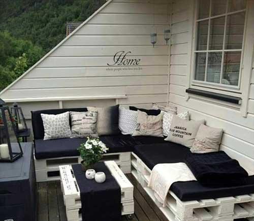 paletes para decorar terraço pequeno
