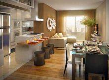 como separar cozinha e sala integrados usando cores