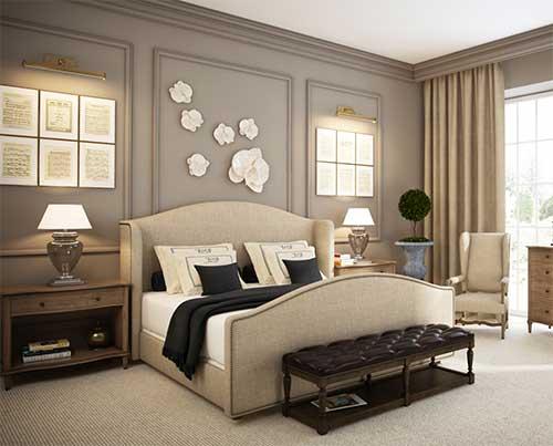 quarto luxuoso e moderno confortavel