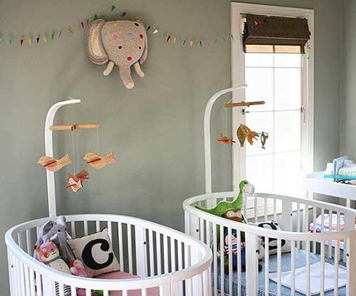 foto de quarto decorado de gemeos nenem