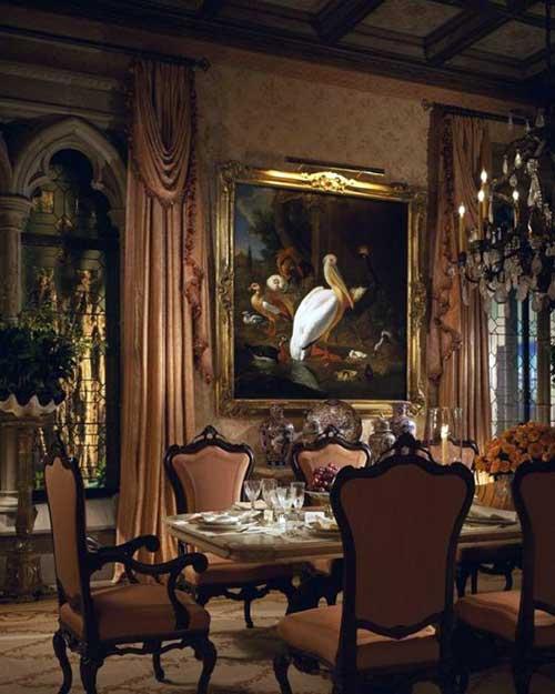 sala de jantar estilo seculo 19 europeu