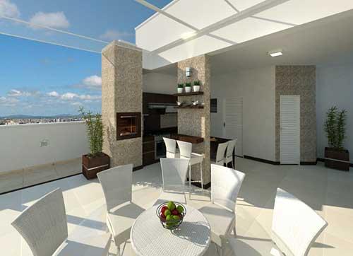 projeto de terraço com cobertura de vidro