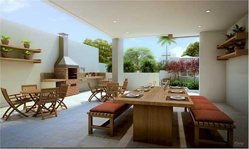 terraço gourmet grande de casa luxuosa