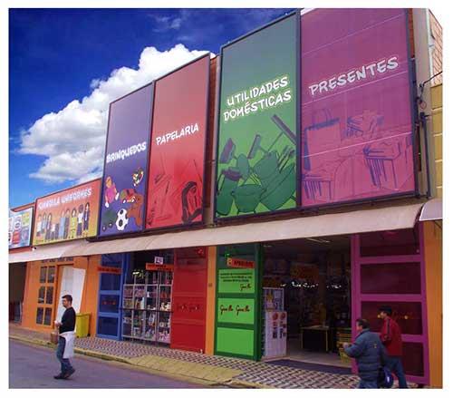 loja de variedades colorida