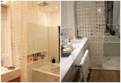 cortina de croche pra enfeitar o banheiro