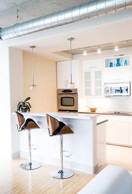 iluminaçao para cozinha americana planejada