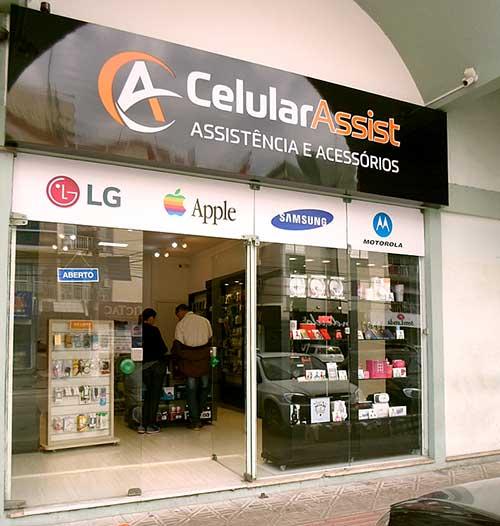 fachada de loja de celulares simples