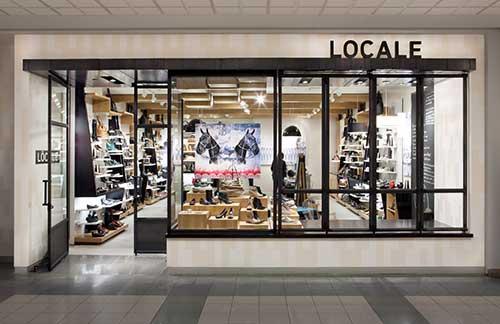 fachada de loja de roupas no shopping