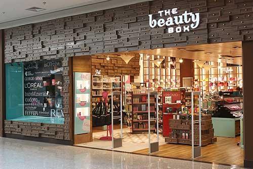 fachada de loja de cosmeticos famosa