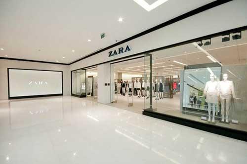 fachada das lojas zara