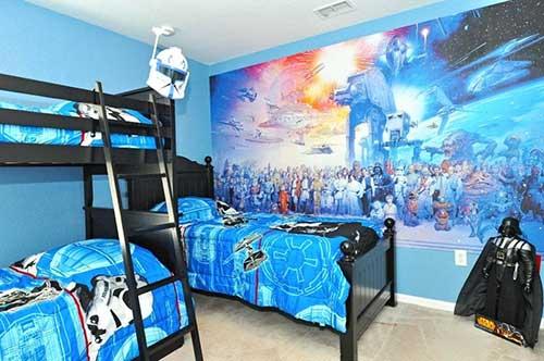 papel de parede colorido do star wars pra quarto de gemeos