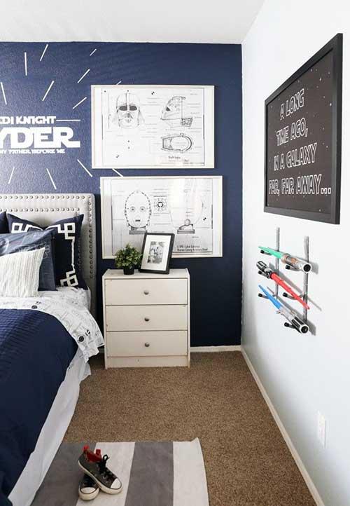 dicas para decorar o quarto com tema star wars