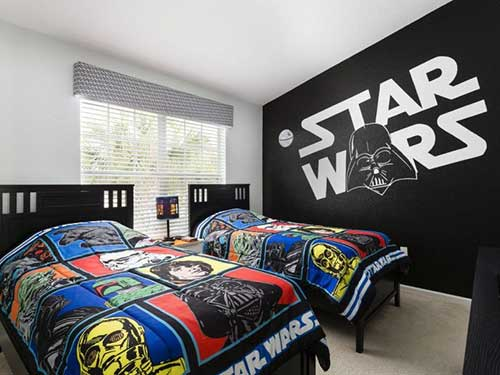quarto preto e branco do star wars