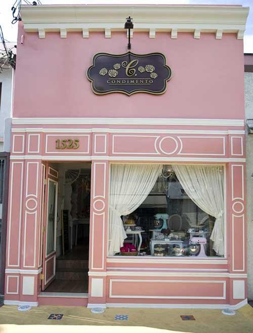 imagem do pinterest de fachada de loja