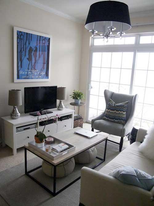 dicas para decorar uma sala de estar pequena