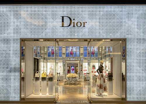 imagem de fachada da loja da dior