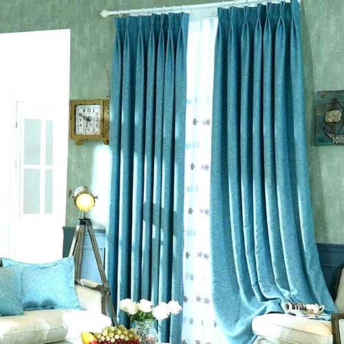 cortina azul marinho com blecaute pra quarto