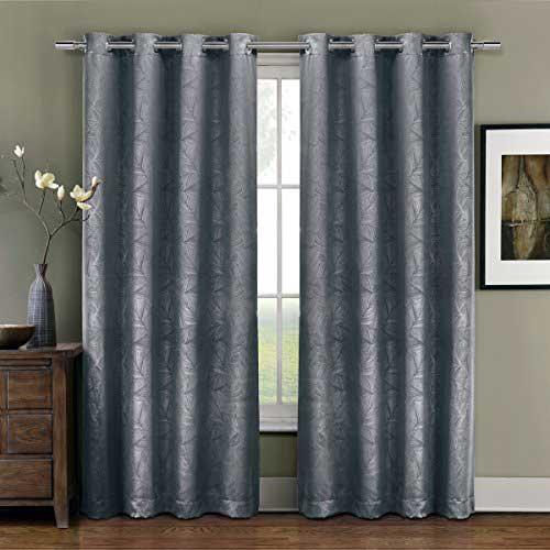 cortina blecaute cinza para sala de estar ou quarto