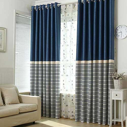 cortina blecaute azul com proteçao contra som