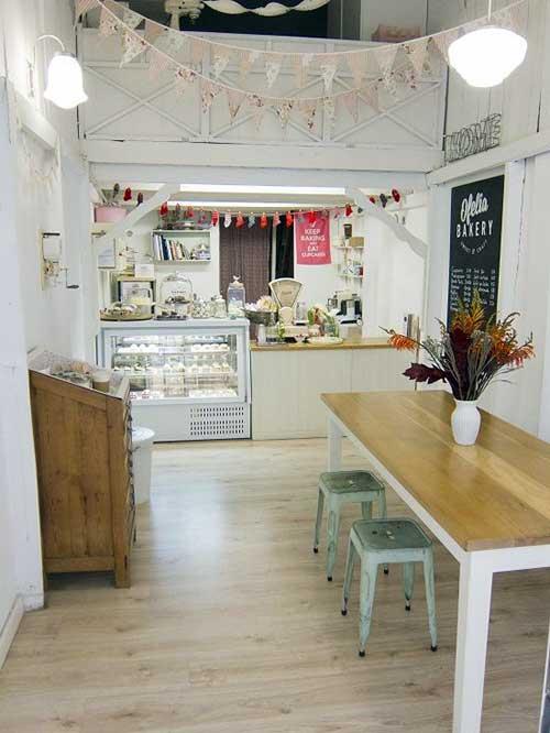 foto de padaria simples decorada e bonita