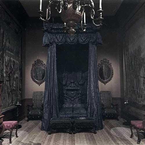 quarto gotico preto e assustador