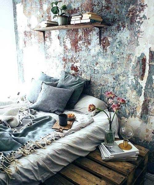 quarto estilizado indie com ornamentos boemios
